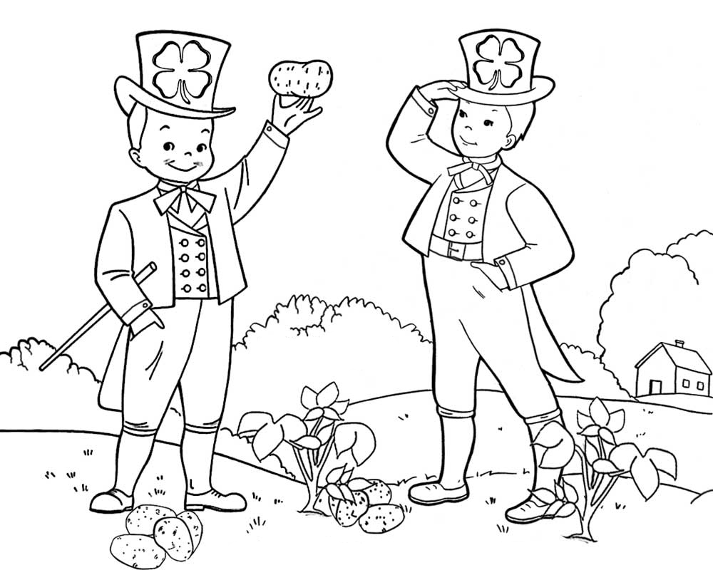 Irish Leprechaun Coloring Page