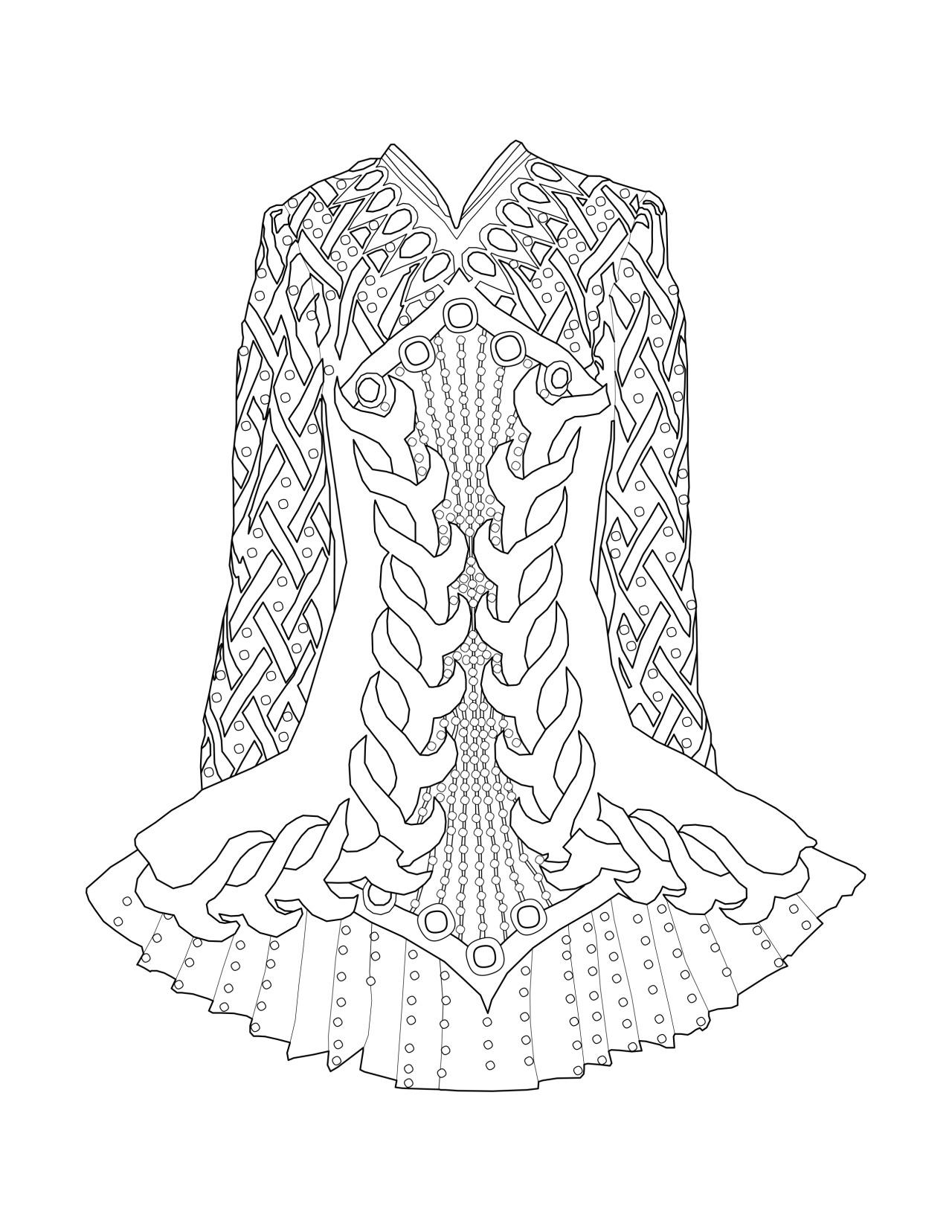Irish Dance Dress Coloring Page