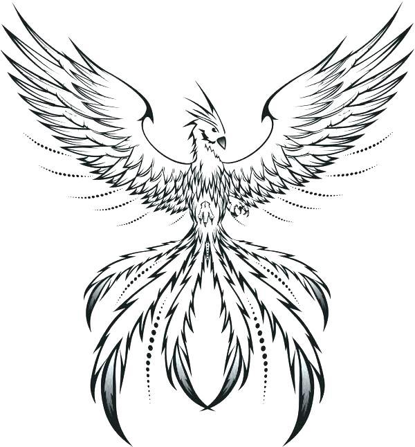 Phoenix Coloring Sheet