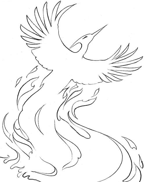 Phoenix Printable Coloring Page