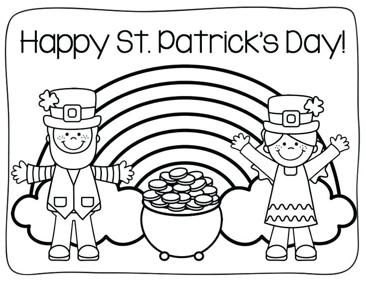 St Patricks Day Boy And Girl Leprechaun Coloring Pages
