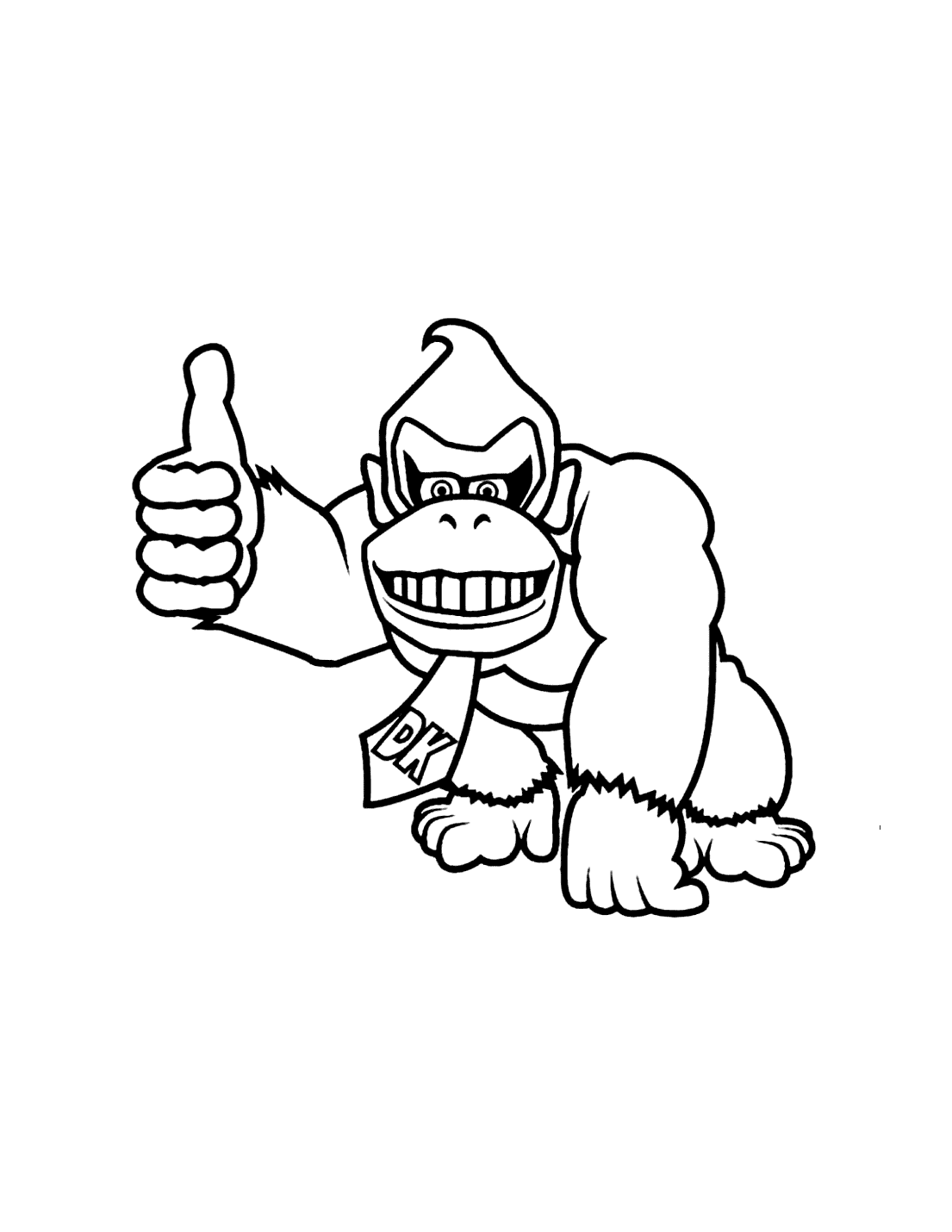 Thumbs Up Donkey Kong Coloring Pages