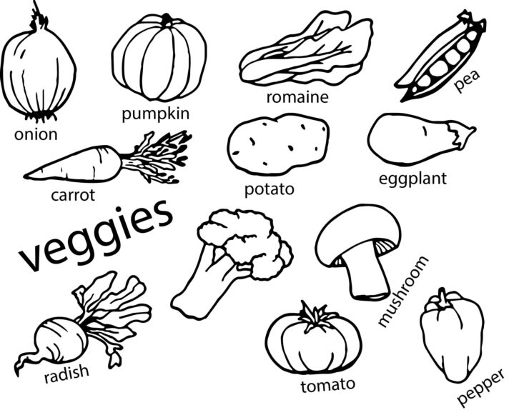 Vegetable Onion Coloring Page