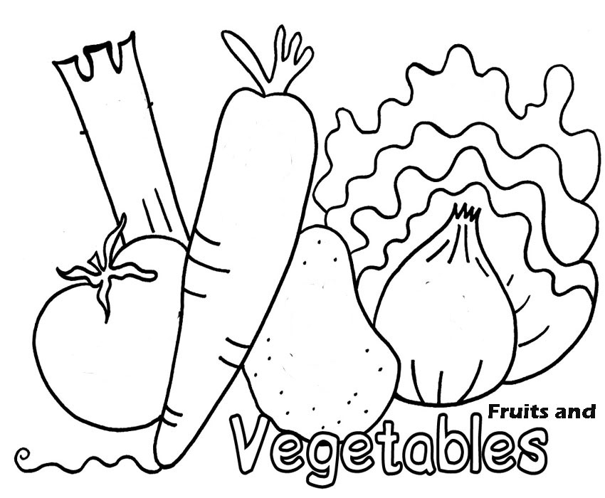 Vegetables Coloring Pages