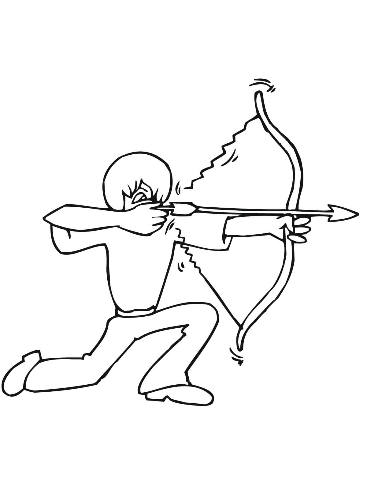 Archer Coloring Page