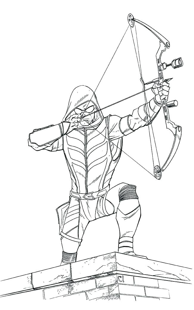 Archery Coloring Pages