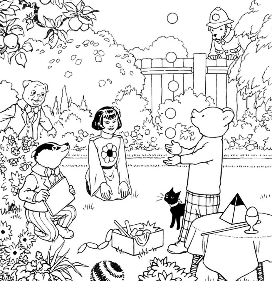 Bill The Badger Coloring Page