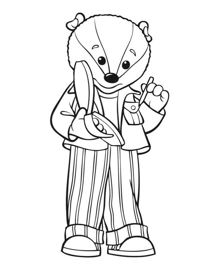 Bill The Badger Coloring Pages