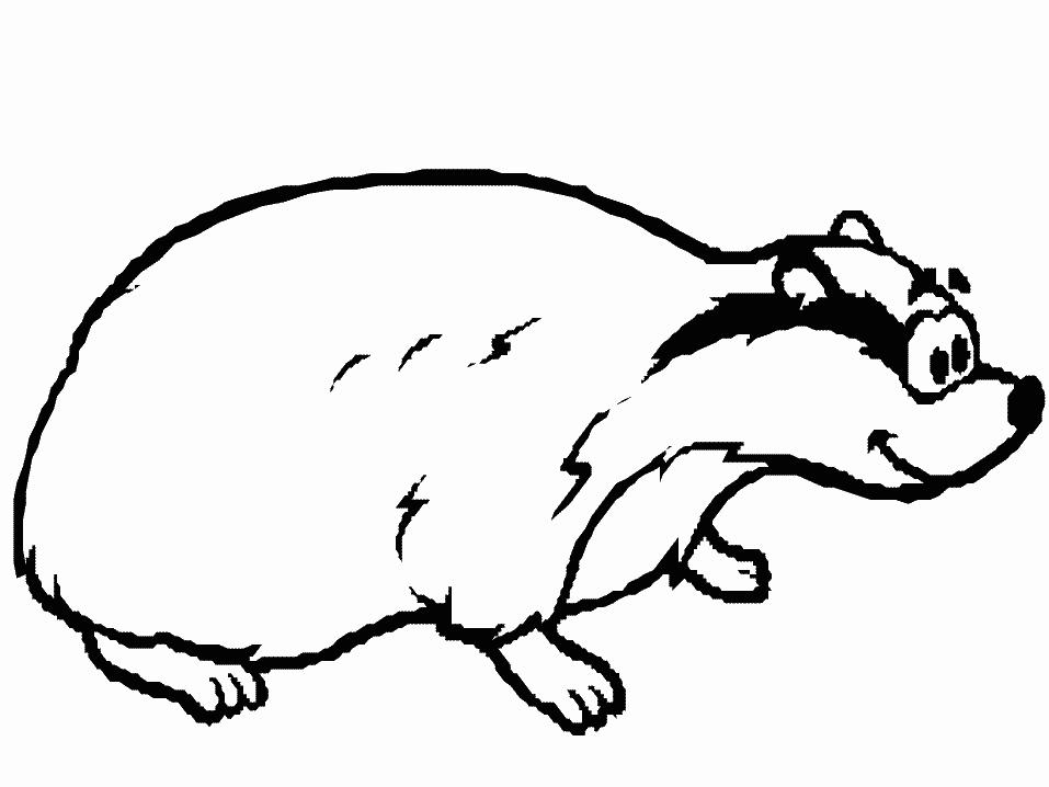 Cartoon Badger Coloring Page