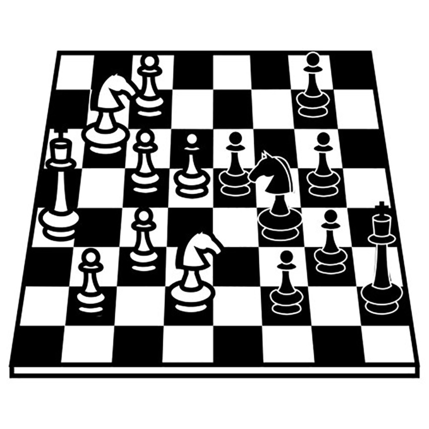 Chess Board Coloring Page