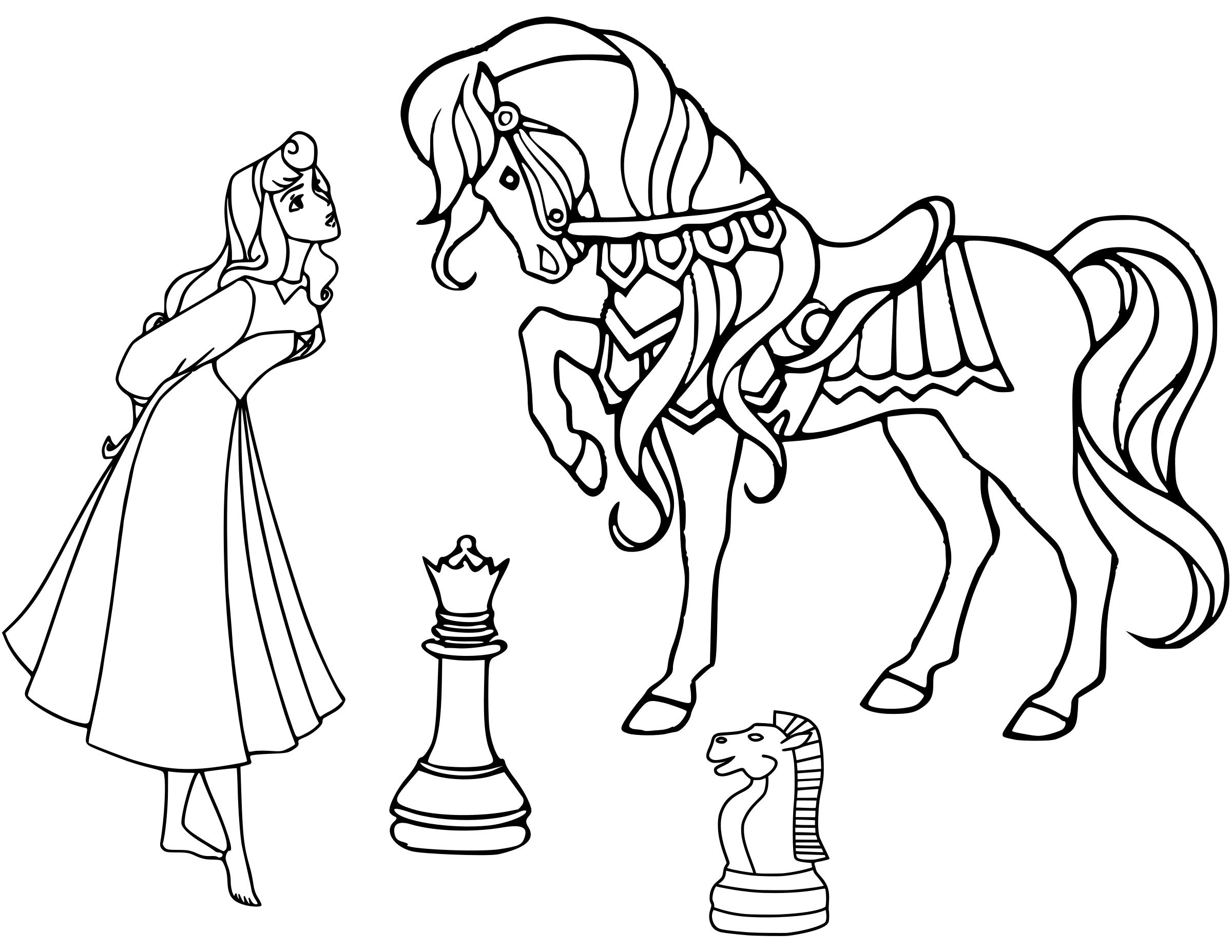 Cinderella Chess Piece Coloring Page