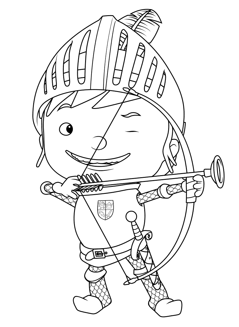 Cute Archery Coloring Pages