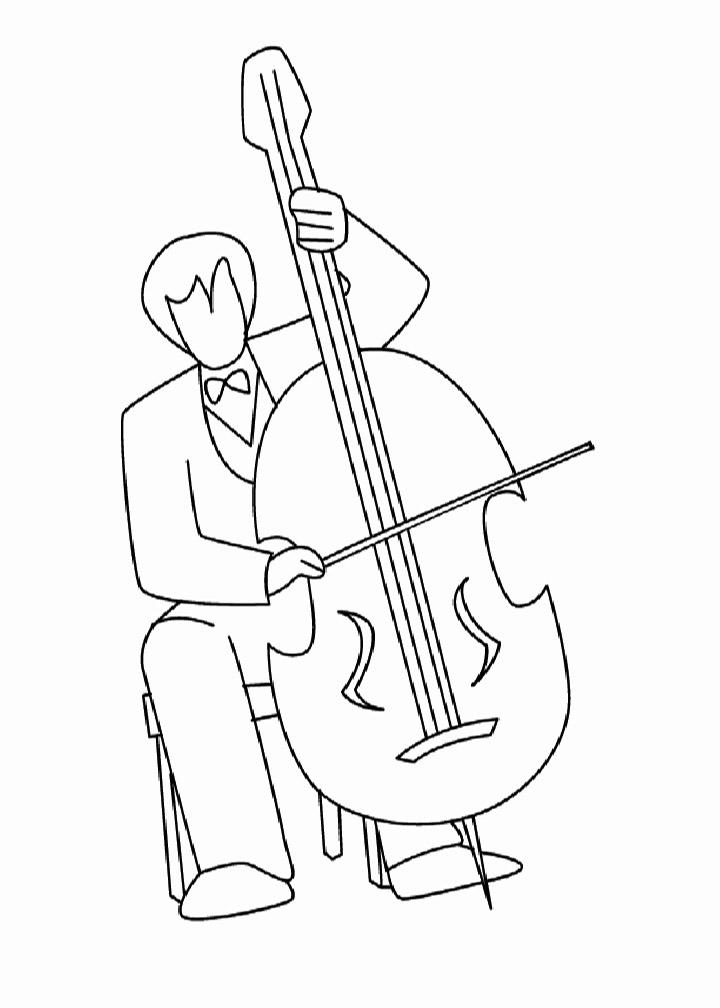 Easy Cello Coloring Page