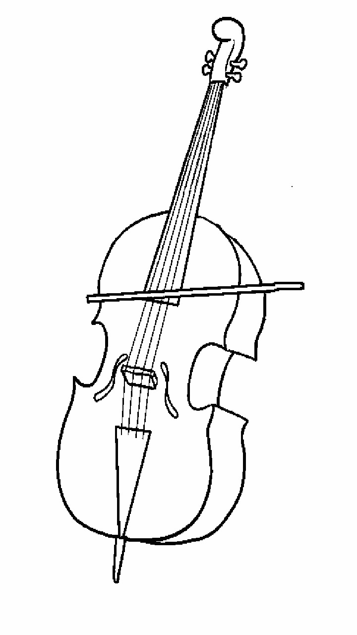 Easy Cello Coloring Pages