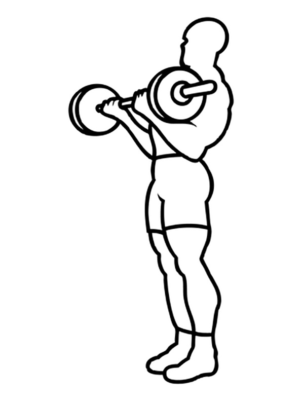 Easy Weightlifting Coloring Page