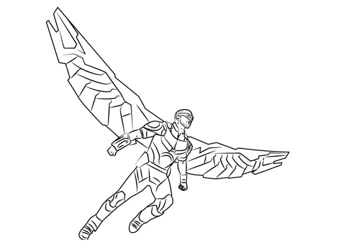 Falcon Superhero Coloring