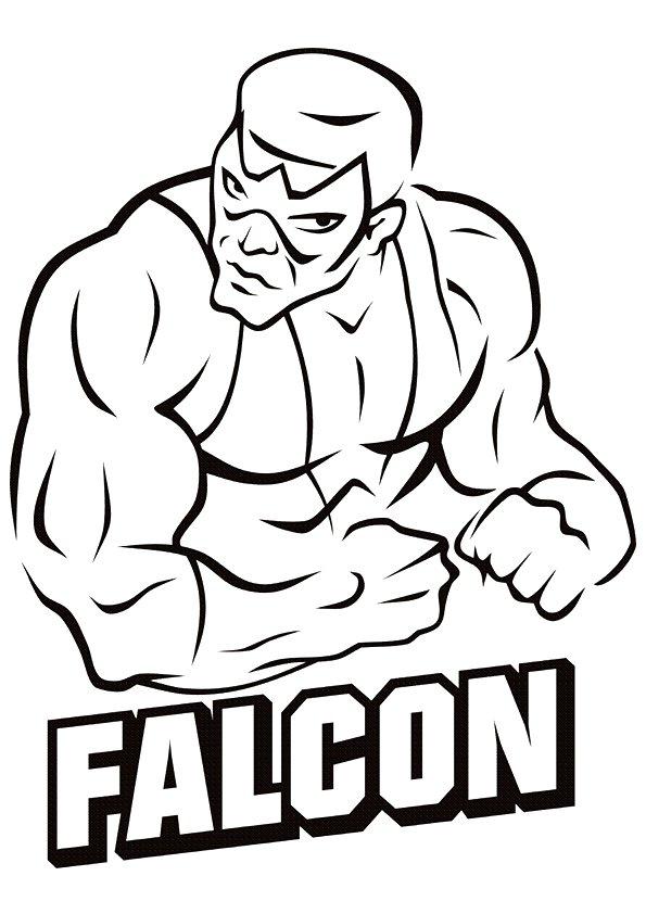 Falcon Superhero Coloring Page