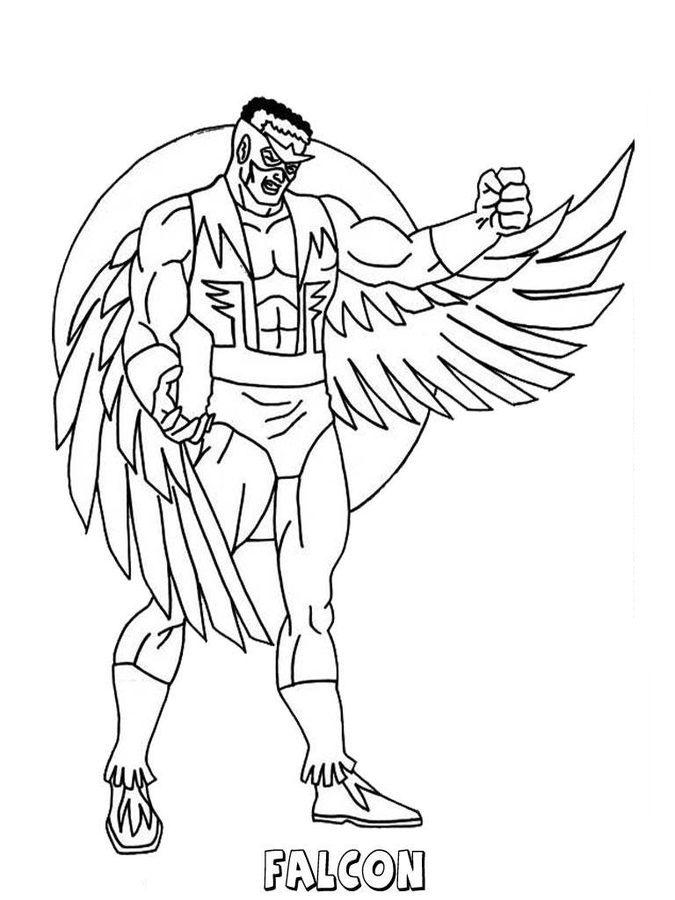 Falcon Superhero Coloring Pages