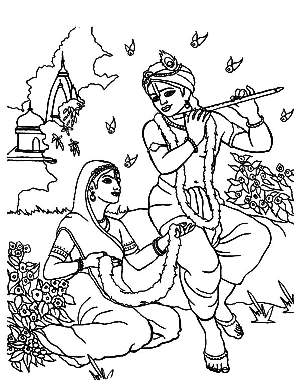 Flute Coloring Printable Pages