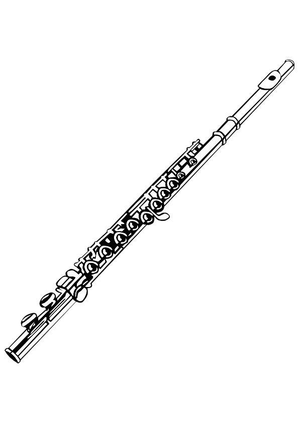Flute Instrument Coloring Page