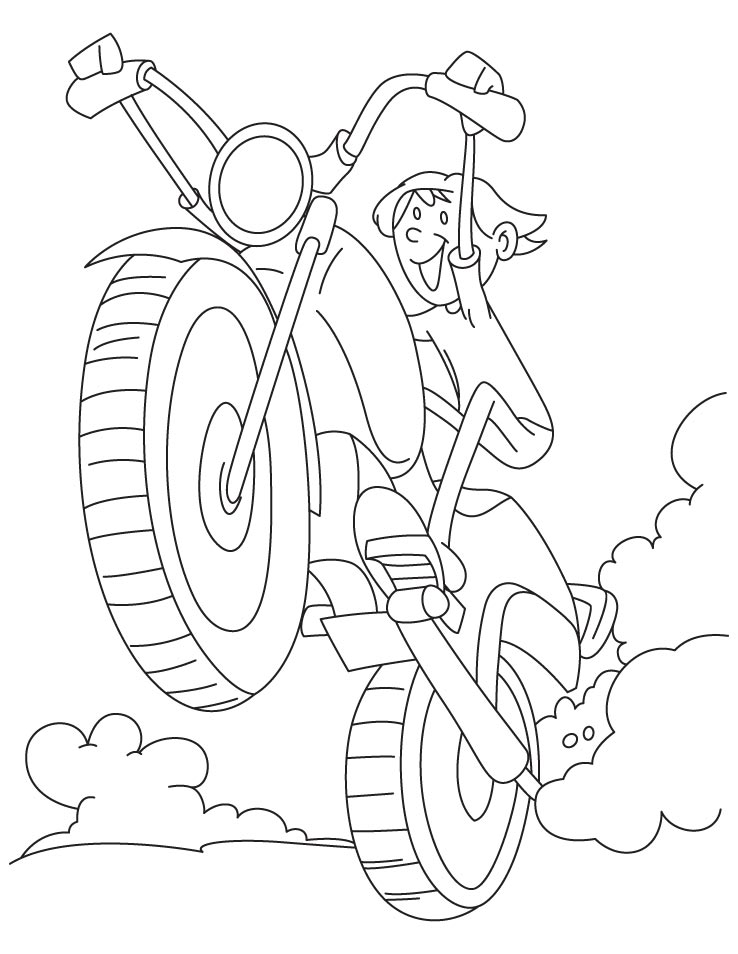 Fun Cycling Coloring Pages
