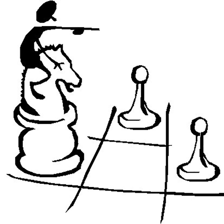 Knight Chess Coloring Page