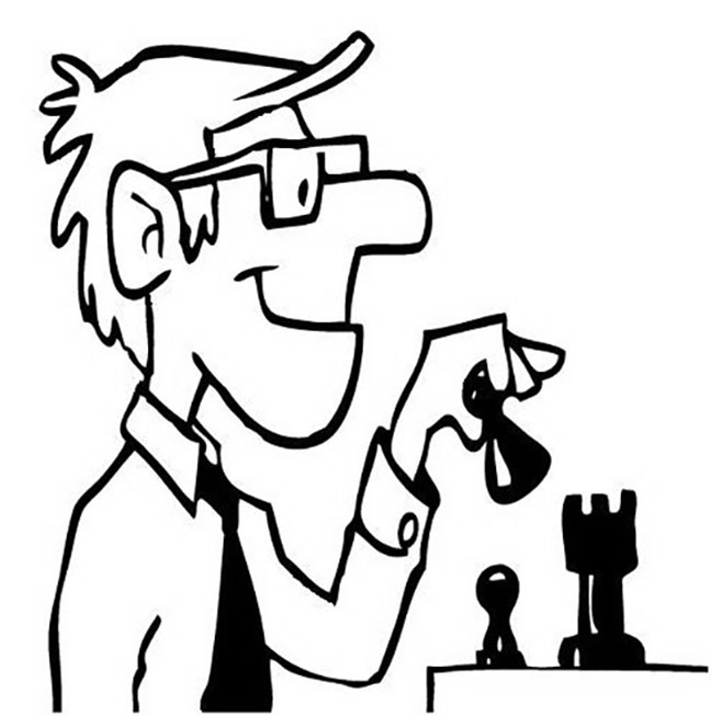Man Playing Chess Coloring Page