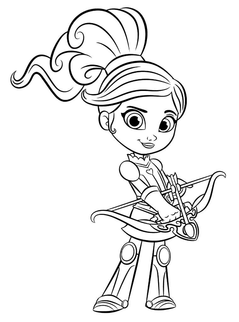 Nella The Princess Knight Archery Colroing Page