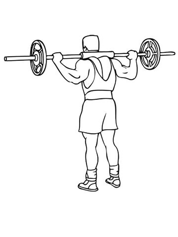 Printable Weightlifting Coloring Pages
