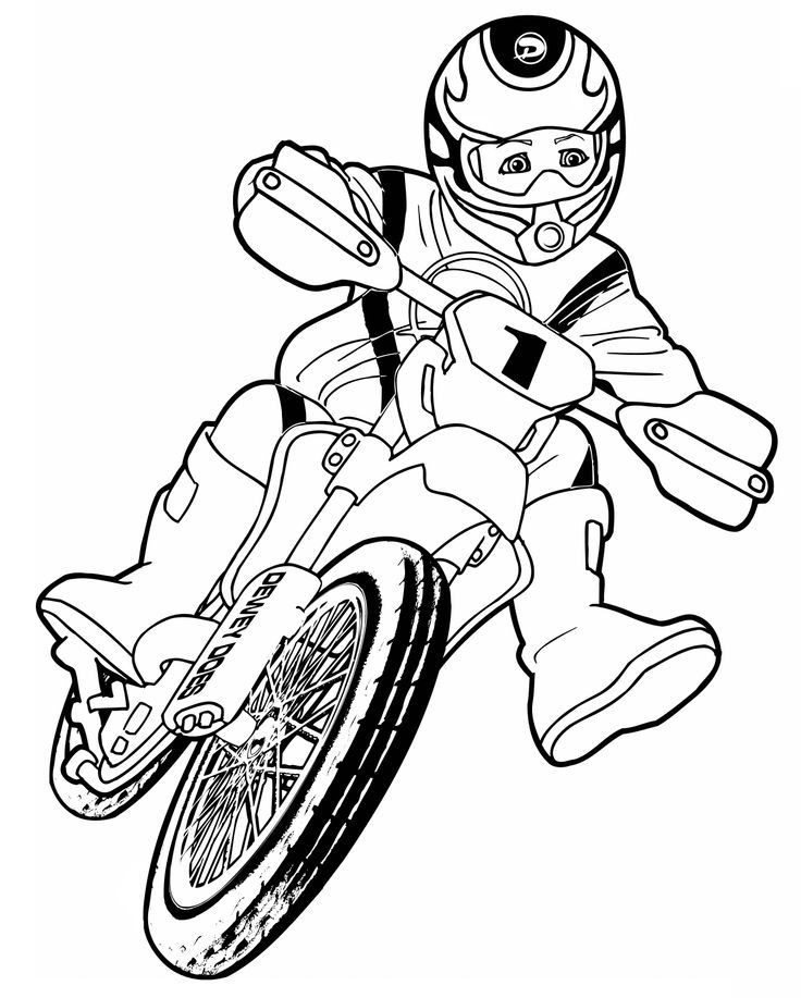 Sport Cycling Coloring Page