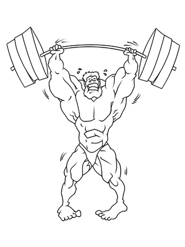 Weightlifting Coloring Pages