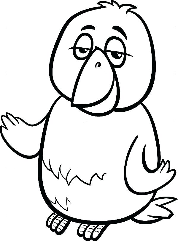 Cartoon Canary Coloring Page