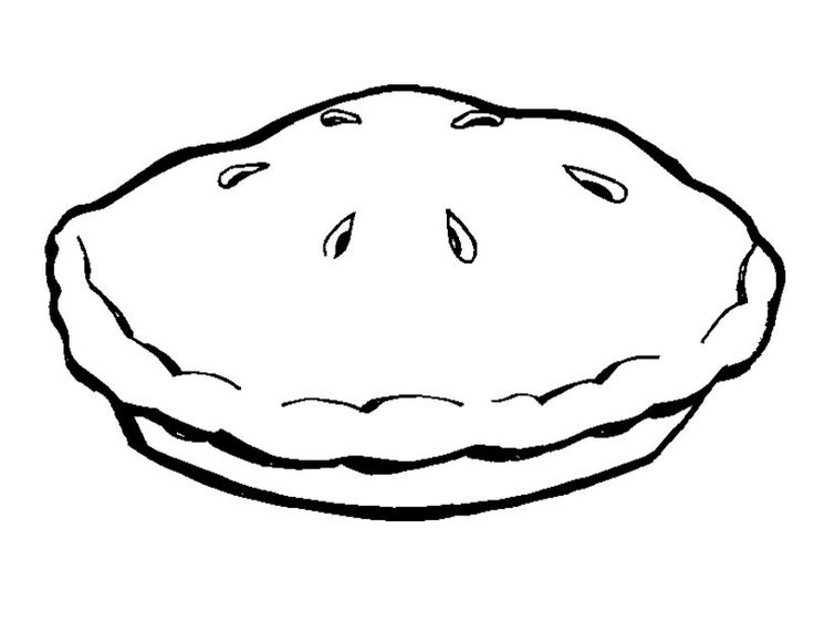Easy Pie Coloring Page