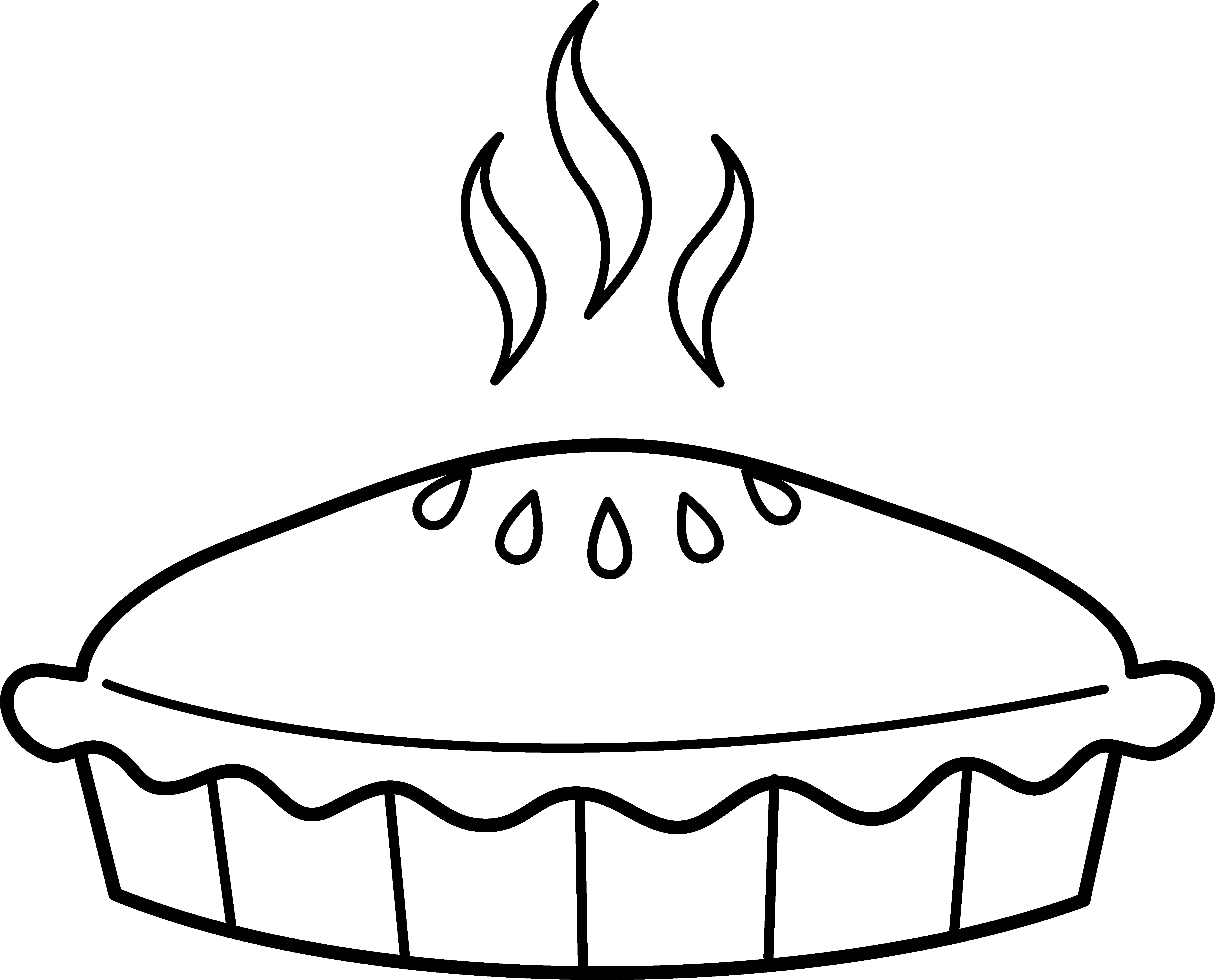 Easy Pie Coloring Pages