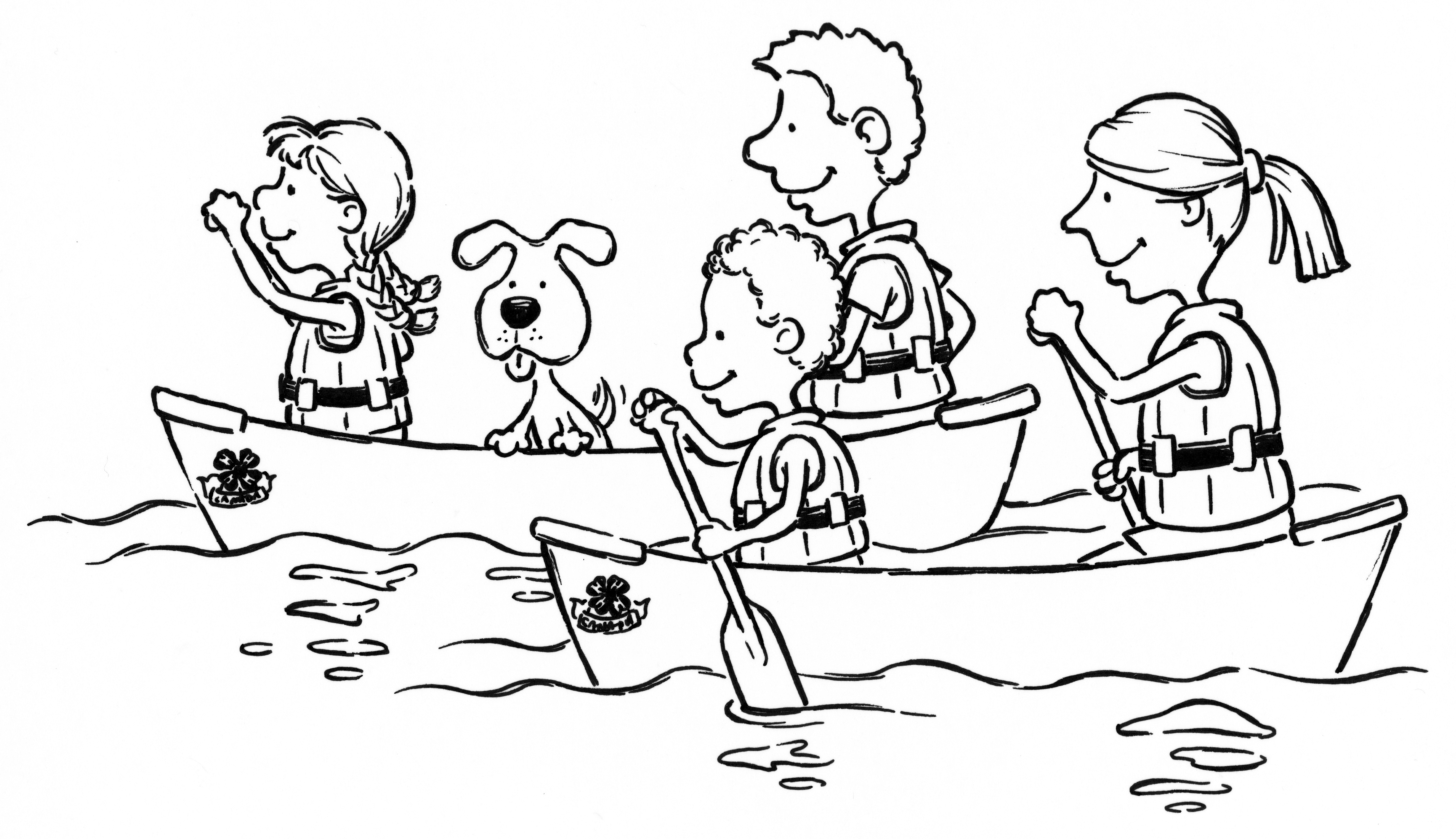 Fun Rowing Coloring Pages