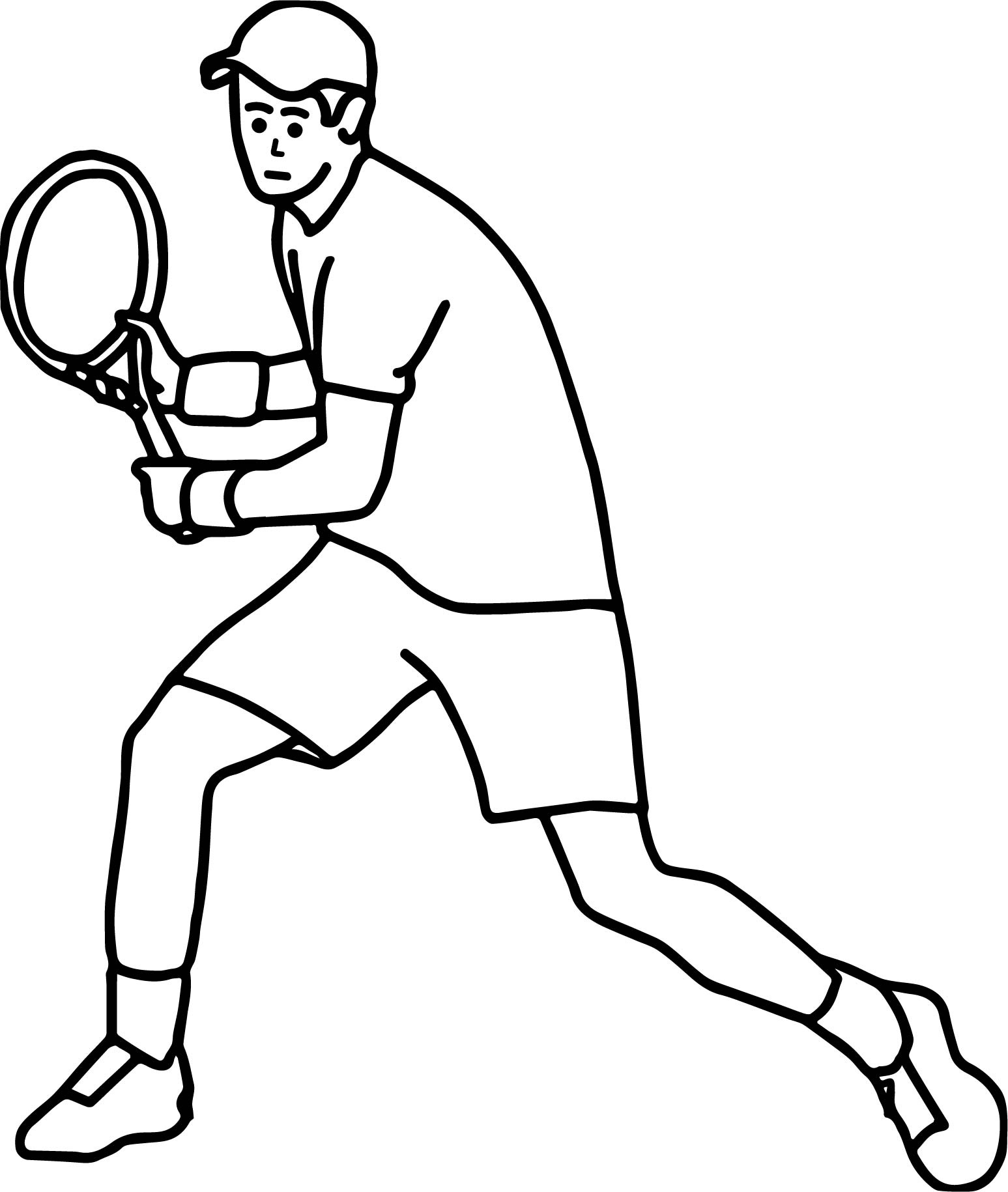 Man Playing Tennis Coloring Page