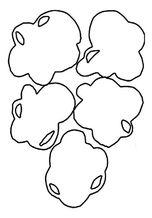 Pieces Of Popcorn Coloring Page
