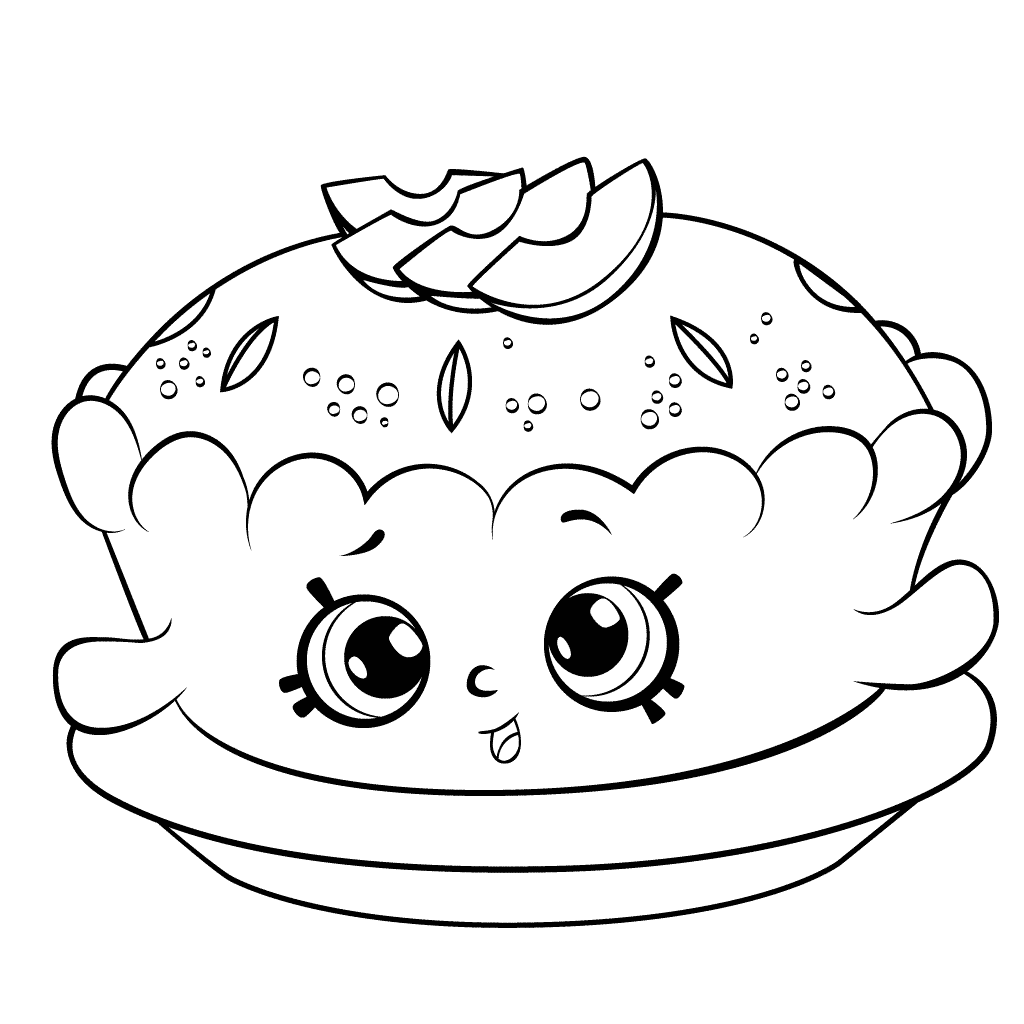 Shopkins Apple Pie Coloring Page