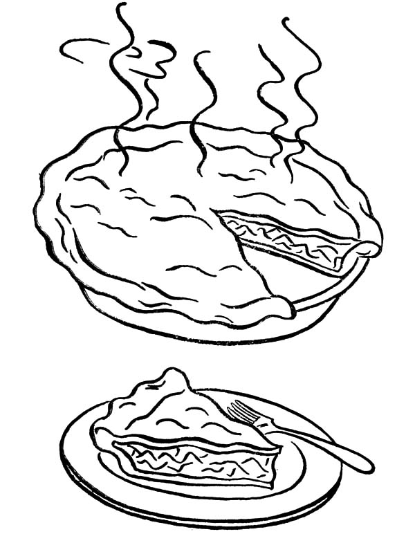 Slice Of Pie Coloring Page