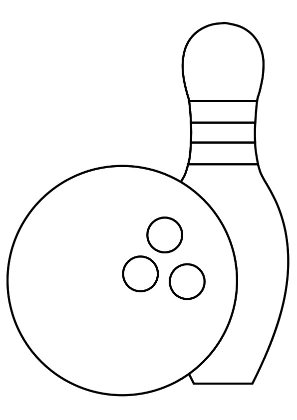 Bowling Ball And Pin Coloring Pages