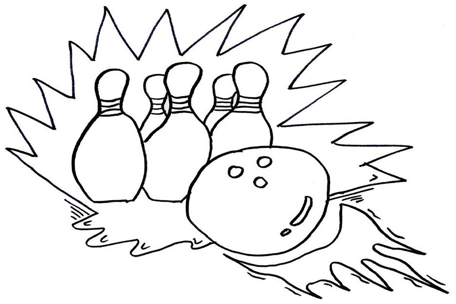 Bowling Balls Coloring Page