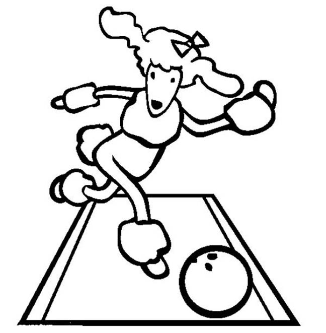 Bowling Dog Coloring Pages
