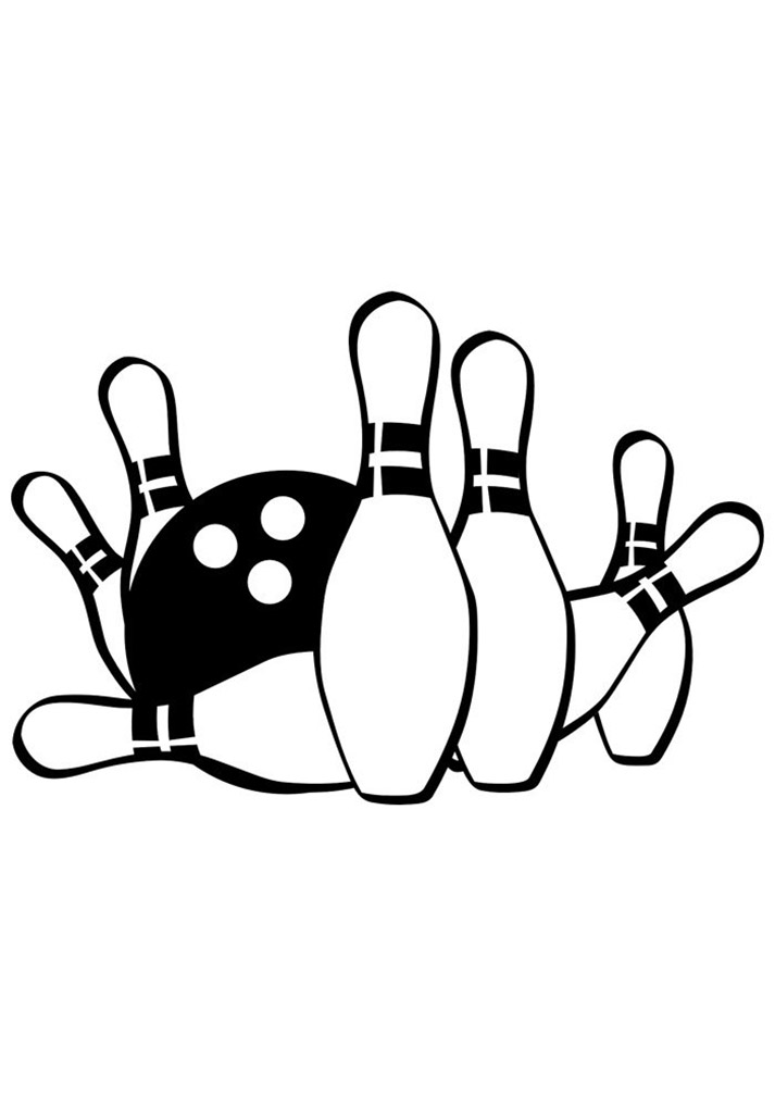 Bowlng Ball And Pins Coloring Pages