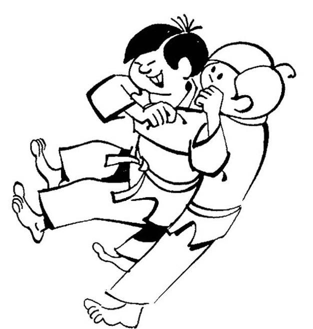 Cartoon Boys Martial Arts Coloring Pages