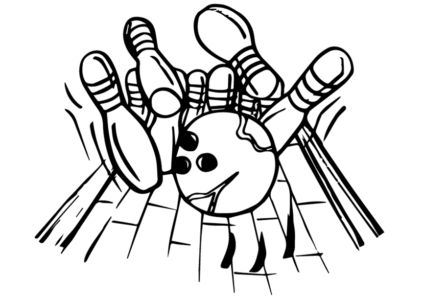 Cool Bowling Coloring Pages