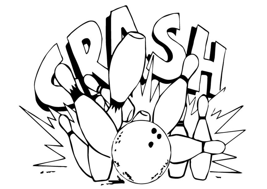 Crash Bowling Coloring Page