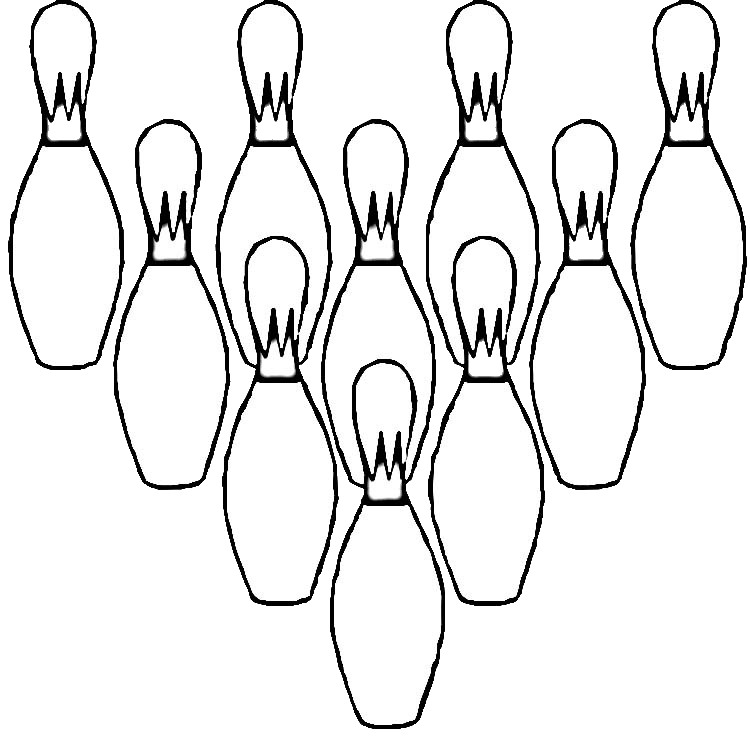 Easy Bowling Pins Coloring Pages