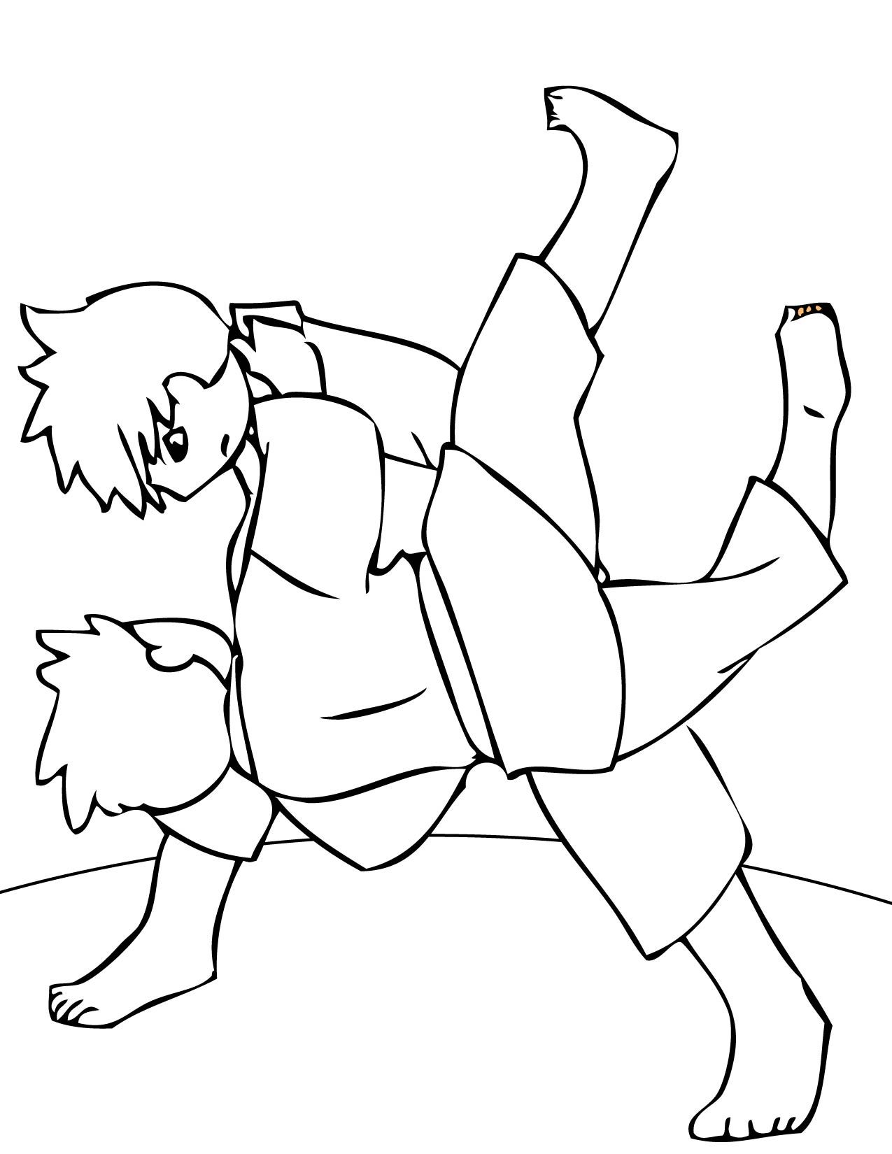 Easy Martial Arts Coloring Pages