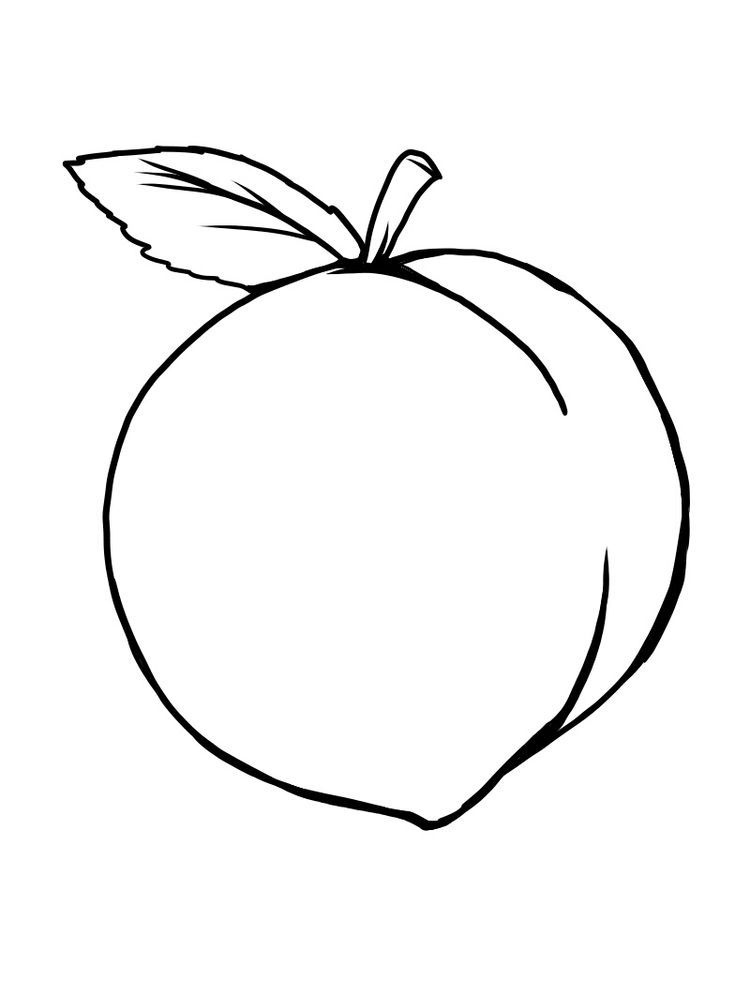 Easy Peach Coloring Pages