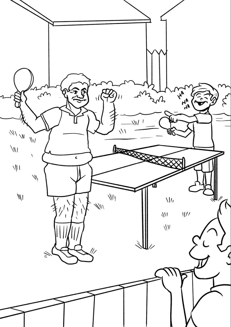 Fun Ping Pong Coloring Pages